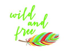 Tribal Printable Wall Art | These Bare Walls | Wild and Free | Feather |