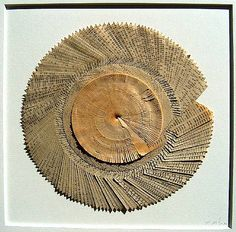 Helmut Loehr - Tel Aviv Calling, 1998. Book circle collage made out of a Tel Aviv telephone book.