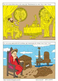 Mitologia brasileira, por Cesar Andrade e Flatuff.