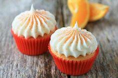 Fresh Tangerine Cupcakes