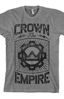 Mighty Crown (Heather Grey) T-Shirt - Crown The Empire T-Shirts - Online Store on District Lines