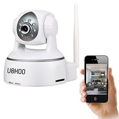 IP Camera, Uokoo 720P WiFi Security Camera Internet Surveillance Camera Built-in Microphone, Pan/Tilt with 2-Way Audio,Baby Video Monitor Nanny Cam, Night Vision Wireless IP Webcam (White-720P) with fast, FREE Shipping    #carscampus #sale #shop #cars #car #campus