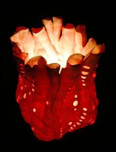 """Купить Светильник """"Кораллы"""" - авторский светильник, коралл, красный, море, подарок, тепло, авторский войлок"""