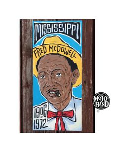 Mississippi Fred McDowell art - Red Tie - MojoHand - Everything Blues™ Great Paintings, Art Painting, Illustrations And Posters, Fred, Hand Painted, Painting, Art, Folk Art Painting, Music Art