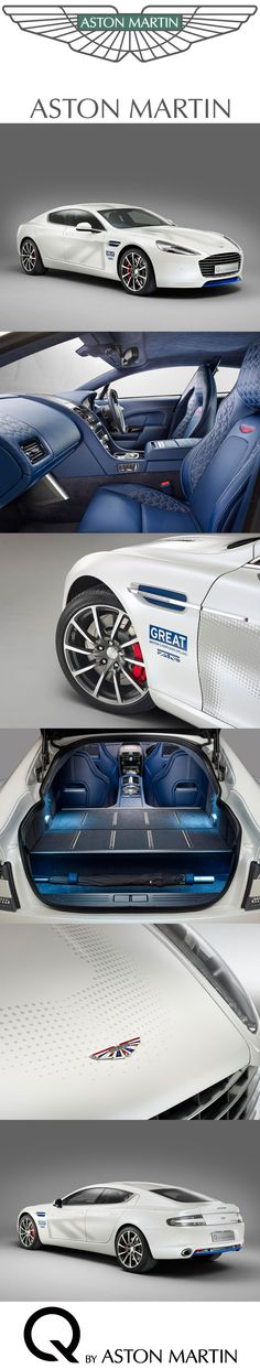 This bespoke 'Q by Aston Martin' Rapide S four-seat, four-door sports car has been commissioned by Aston Martin in support of 'Innovation is GREAT' - the latest strand of the GREAT Britain international marketing campaign.