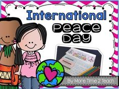 International Peace Day otherwise known as World Peace Day is celebrated around the world on September 21st. This flipbook is one of the activities that I will be using with my own students.I created this FREEBIE in an attempt to bring home the concept of peace to my 3rd graders and to show them that they also play a role in helping to make our world a better place.I hope you find it useful...