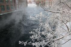 Tammerkoski rapids, Tampere, Finland Helsinki, Wander, Snow, City, Places, Nature, Outdoor, Beautiful, Finland