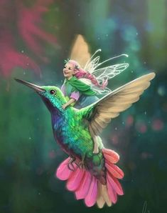 Fairy Hummingbird Love - - Tommy Tinker and the Lost Candy Factory is authored by Teelie Turner and illustrated by Aisha Bilal. Beautiful Fantasy Art, Beautiful Fairies, Magical Creatures, Fantasy Creatures, Elfen Fantasy, Fairy Pictures, Fantasy Kunst, Fairy Art, Fantasy Artwork