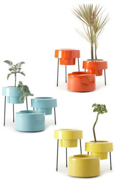 Modern-mid-century-style-eco-aluminum-planters-indoor-outdoor
