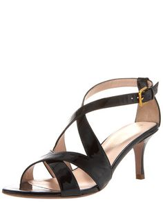 Lenox Patent Mid-Heel Sandal by Elie Tahari at Bergdorf Goodman.