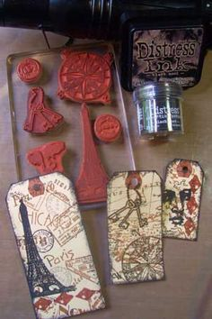 Splitcoaststampers - Collage Stamping Technique Tutorial by Shelly Kuck