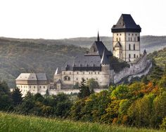 Karlštejn Castle, one of the most beautiful gothic castles in the Czech Republic