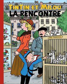 La rencontre de Tintin et Milou
