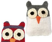 Knitted Owl Puppet Idea