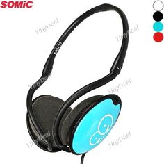 SOMIC MH427 3.5mm Stereo Music Headset Headphones with Mic Line Controller EEP-272482