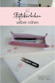 Ein Stiftekörbchen mit einer Anleitung ganz leicht selber nähen. Ich habe die Anleitung und das Schnittmuster kostenlos für dich auf meinem Blog.