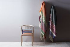 Oslo designer Andreas Engesvik has created a series of blankets inspired by the textiles of Norwegian folk costumes.