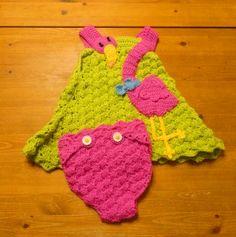 Crochet Parfait: Flamingo Baby Dress, Free Pattern
