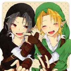 Super cute Link and Dark Link <3