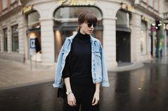 fashionblog graz Bomber Jacket, Denim, My Style, Hot, Jackets, Fashion, Graz, Down Jackets, Moda