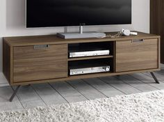 Modern TV Stand Palma Walnut by LC Mobili - $459.00