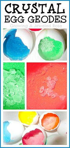 Here's a fun Science experiment the kids will LOVE- Grow Crystal Egg geodes with just a few basic ingredients