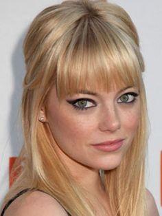 Emma Stone's amazing bangs.