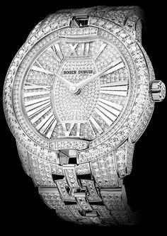 35b6ab40c35 Velvet High Jewellery in white gold Roger Dubuis  luutlist Relógio Moderno