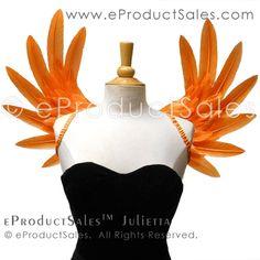 eProductSales Original orange JULIETTA feather angel Wings