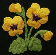 Welcome to my latest design, Four Seasons of Flowers. Consisting of a total of 24 blocks, each 6 x 6, you will find six blocks for each of the four seasons, spring, summer, autumn, and winter. *** This pattern is for ONE of the six summer flowers, Yellow Pansies. All the other 23 blocks are listed separately. *** You may also choose the PATTERN & KIT option, when purchasing. If your purchase includes the kit, you will additionally receive a 6 x 6 100% black wool block, and all the colo...