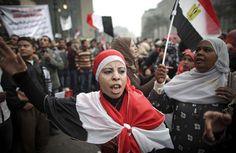 Manifestante sur la place Tahrir