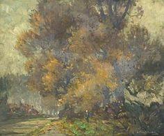 Spooner, Arthur, (1873-1962), Misty Autumn, Oil