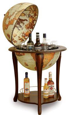 "Aristocratic Floor Globe Bar - Italian 20"" Diameter Replica, Safari Elegant and spacious for a great price"