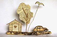 Epistyle - Lovely Paper Sculptures - Need to translate -http://epistyle.blogspot.fr/