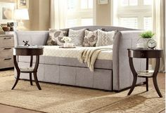 Perfect for guest rooms and small living areas, these versatile beds are both comfy and stylish. Daybeds can be dolled up with decorative pillows when they're not being used, and added trundles come in handy when you have more than one visitor.http://www.wayfair.com/daily-sales/Best-Daybeds-for-Small-Spaces~E14950.html?refid=SBP.rBAZEVQfgs0KmiuQEMsXAqAgAmy4vkgRkyTSJqFggWw