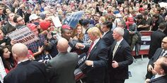 "rotesters heckled Donald Trump at a 9,000-person rally at Grand Rapids, Michigan, on Monday, interrupting his speech more than 10 times with shouts before security guards ejected them from the event.Trump, the front-runner for the Republican presidential nomination, alternated between criticizing the hecklers and asking the guards leading more than a dozen people out of the room to ""be gentle.""The interruptions sapped some of the energy Trump often builds during his speeches, but did not…"