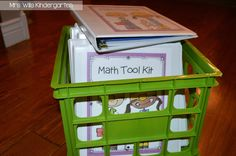Organizing student materials for math workshop--check out these cool binder resources (free, too!)  This post is from a first grade teacher, but I think the idea would adapt well (and easily) for other grades!