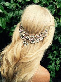 Wedding hair jewelry Hair chain accessory by BellaViaDesigns