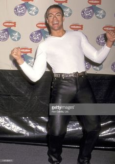 News Photo : Actor Jean-Claude Van Damme attends the Jc Van Damme, Kids Choice Award, The Expendables, Leather Trousers, Keira Knightley, Retro Aesthetic, Hollywood Actor, Scarlett Johansson, Beautiful Men