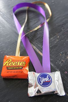 This Candy Medals idea is so clever for a game prize at a kids party!