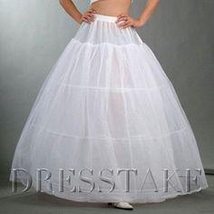 Nylon / Tulle Floor-length Wedding Petticoat With Three Bone Hoop