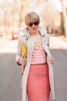 Tweed + stripes.