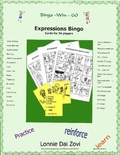 25 best greetings in spanish images on pinterest spanish class basic expression bingo in many languages the 32 pictures are of very common and necessary expressions m4hsunfo
