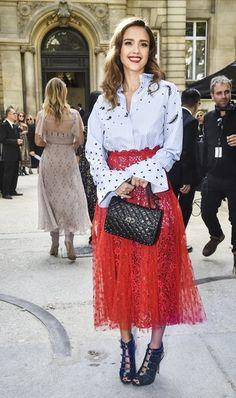 ジェシカ・アルバ Jessica Alba パリコレ ファッション