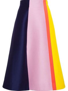 Roksanda Colour Block A-line Skirt - Browns - Farfetch.com