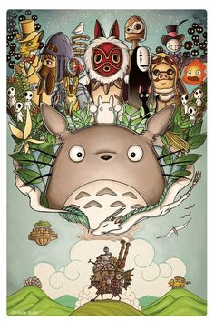 """""""Totoro, El castillo ambulante, El viaje de Chihiro, Naüsica, Princesa Mononoke, Ponyo, Porco Rosso, Haru en el mundo de los gatos (cat returns)"""" ~ [Studio Ghibli] and like OMG! get some yourself some pawtastic adorable cat apparel!"""