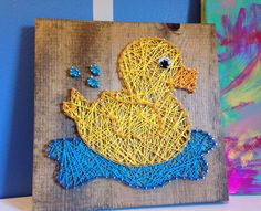 A personal favorite from my Etsy shop https://www.etsy.com/listing/400337989/duck-string-art-wooden-sign-bathroom
