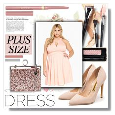 """""""Fall Look: Plus Sized Dresses"""" by jessinerio4l ❤ liked on Polyvore featuring Rupert Sanderson, Guerlain, Stila, Betsey Johnson and dress"""