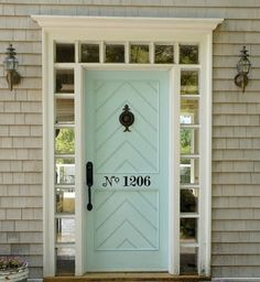 Inspired by this front door!