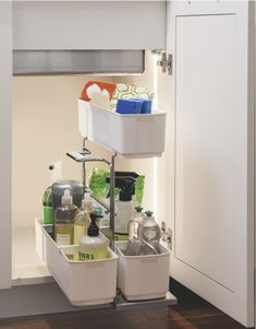 cleaningAGENT makes your cleaning supplies portable. This pullout unit has a removable caddy making cleaning a breeze! This is the ultimate in under sink storage. Under Sink Organization, Under Sink Storage, Sink Organizer, Base Cabinet Storage, Storage Cabinets, Small Space Solutions, Cleaning Agent, Base Cabinets, Easy Install